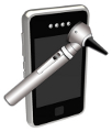 phone and otoscope