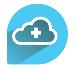 Practice management on cloud icon