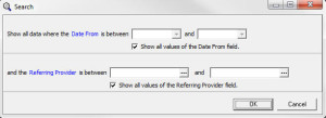 Billing by Referring Provider Filter