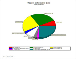 Charges by Insurance Class - Chart Report