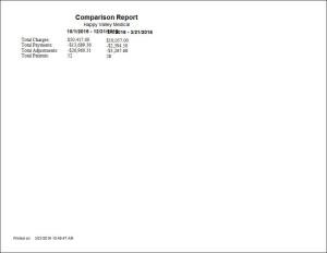 Comparison Report Report