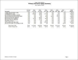 Primary Insurance Aging Summary (Extended 180+) Report