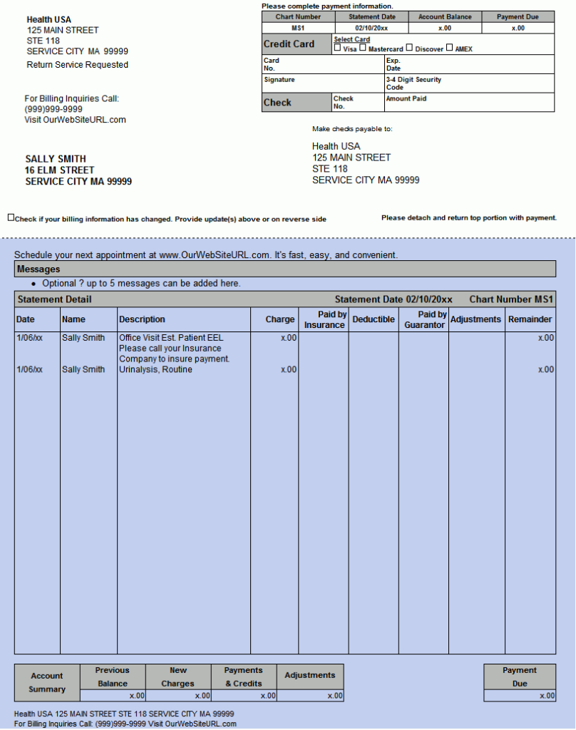 electronic patient statements for medisoft epay office pay estatement