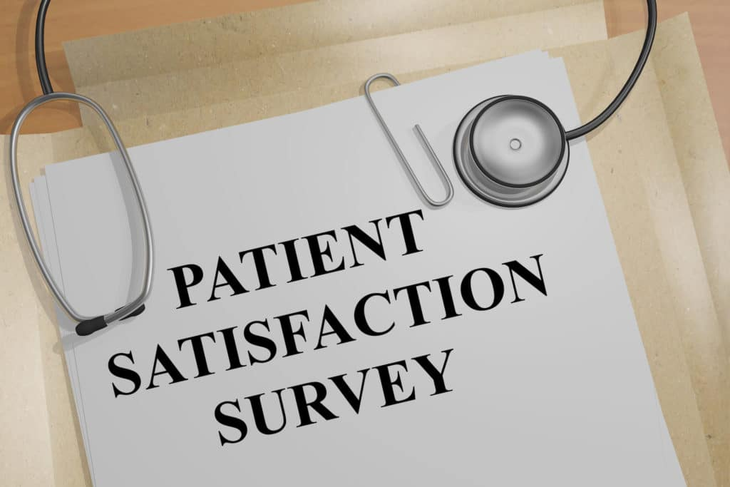 What should be included in patient satisfaction survey