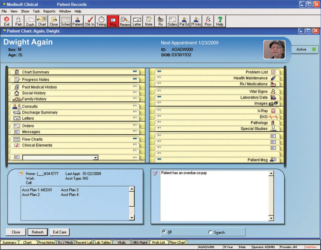 Medisoft Clinical EMR Patient Chart